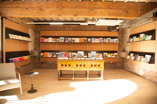 The books and magazines space upstairs at Papersmiths Kings Cross