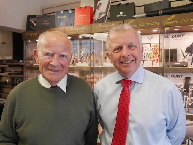 Charles and Peter Jesper in the shop today