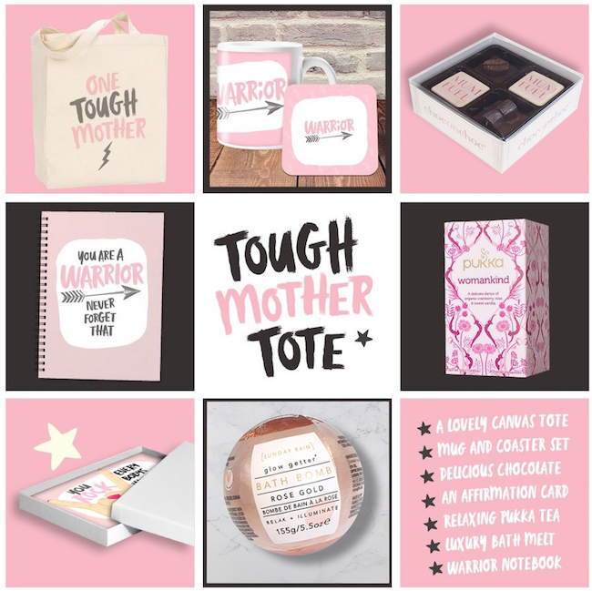 Warrior Tough Mother Tote and its contents