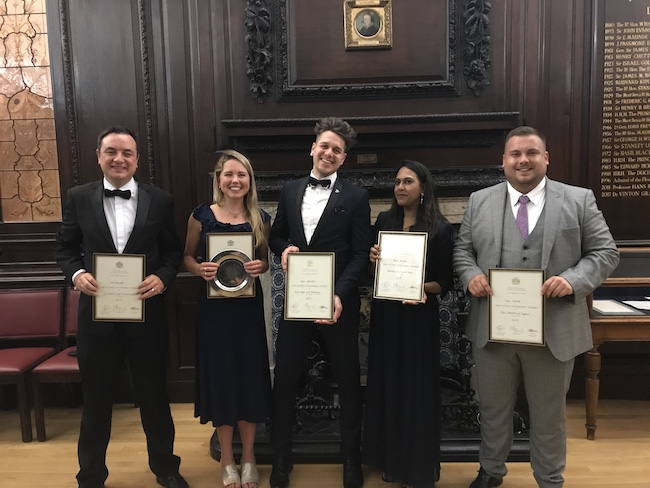 Young Stationers 2019 (l to r) Neil, Amy, Lewis, Dhara, Dan