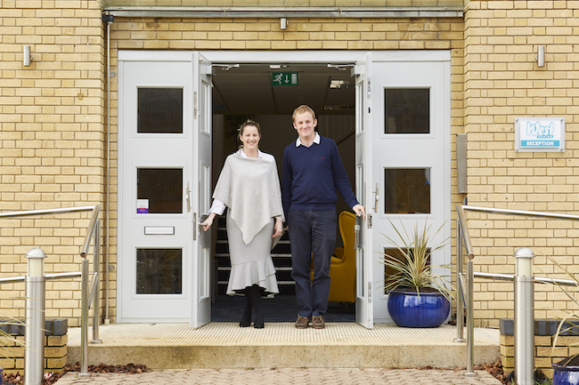 Jo and Owen Bray at West Design headquarters