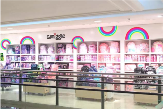 Smiggle concession at Selfridges Oxford Street, which opened August 2019