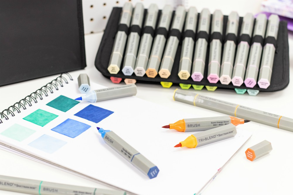 Spectrum Noir launches new TriBlend brush-tipped markers